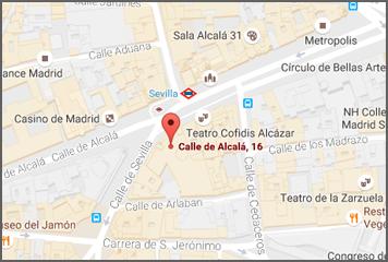 Oficinas de venta de cartografía ambiental en c/ Alcalá, 16