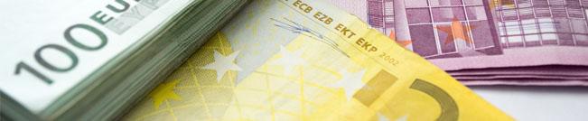 Imagen de billetes de euro de distintos valores