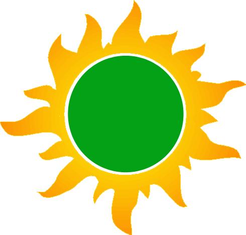 Imagen de sol verde