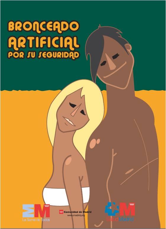 Imagen de la portada de la publicación Bronceado artificial. Por su seguridad