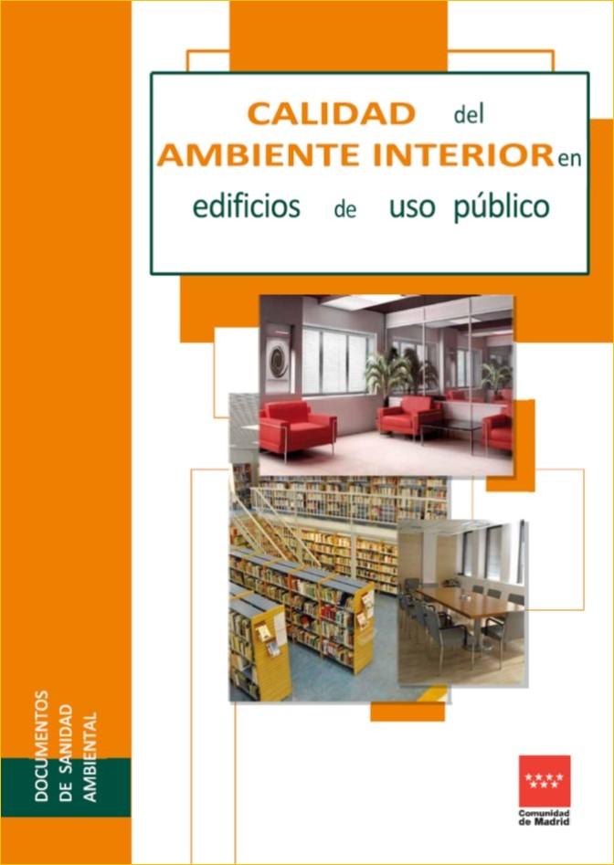 Imagen de la portada de la publicación Calidad del ambiente interior en edificios de uso público, 2ª edición