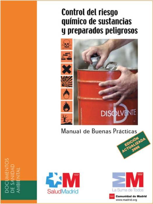 Portada de la publicación Control del riesgo químico de sustancias y preparados peligrosos. Manual de Buenas Prácticas