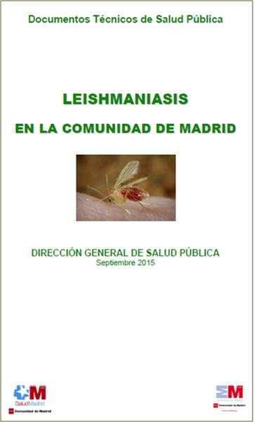 Portada de la publicación Leishmaniasis en la Comunidad de Madrid