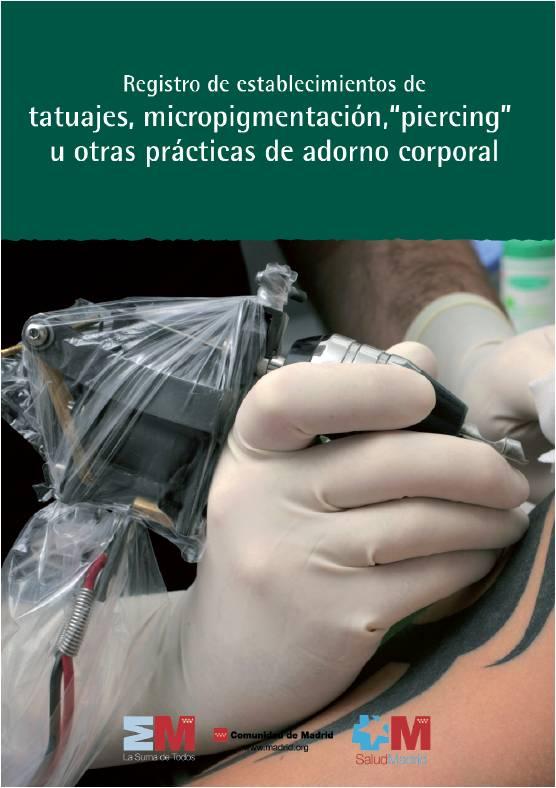 Portada de la publicación Registro de establecimientos de tatuajes, micropigmentación, piercing u otras prácticas de adorno corporal
