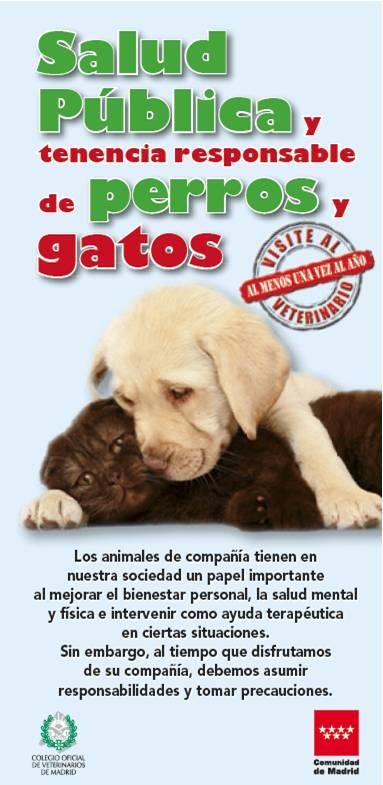 Portada de la publicación Salud pública y tenencia responsable de perros y gatos