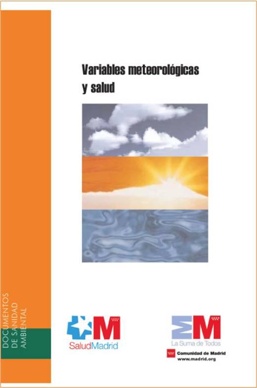 Portada de la publicación Variables meteorológicas y salud