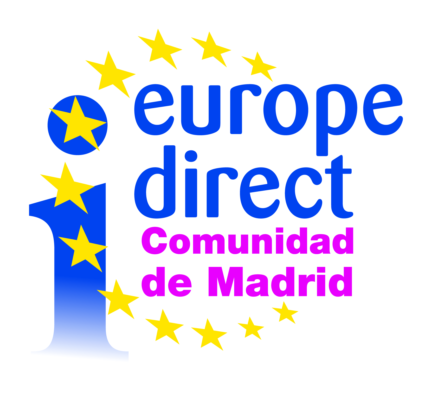 Logotipo del Europe Direct Comunidad de Madrid