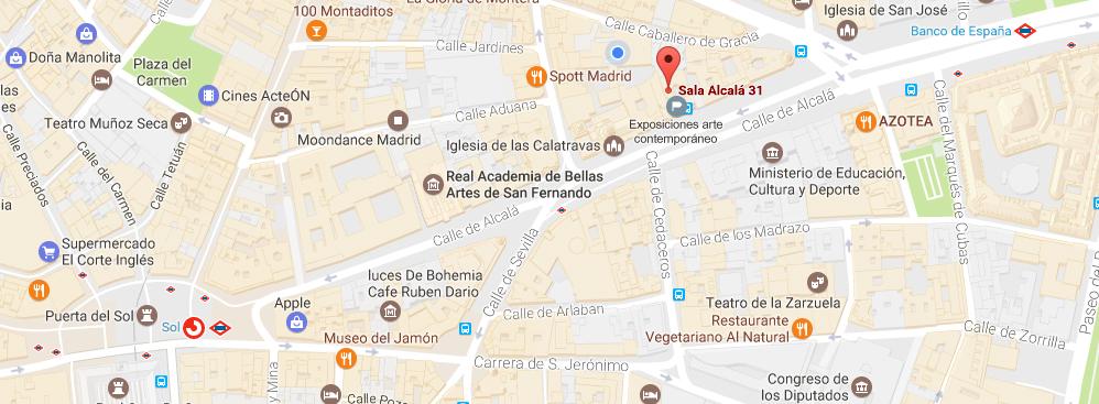 Google Maps Sala Alcalá 31