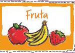 pegatina fruta diario saludable