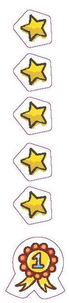 estrellas y medalla diario saludable