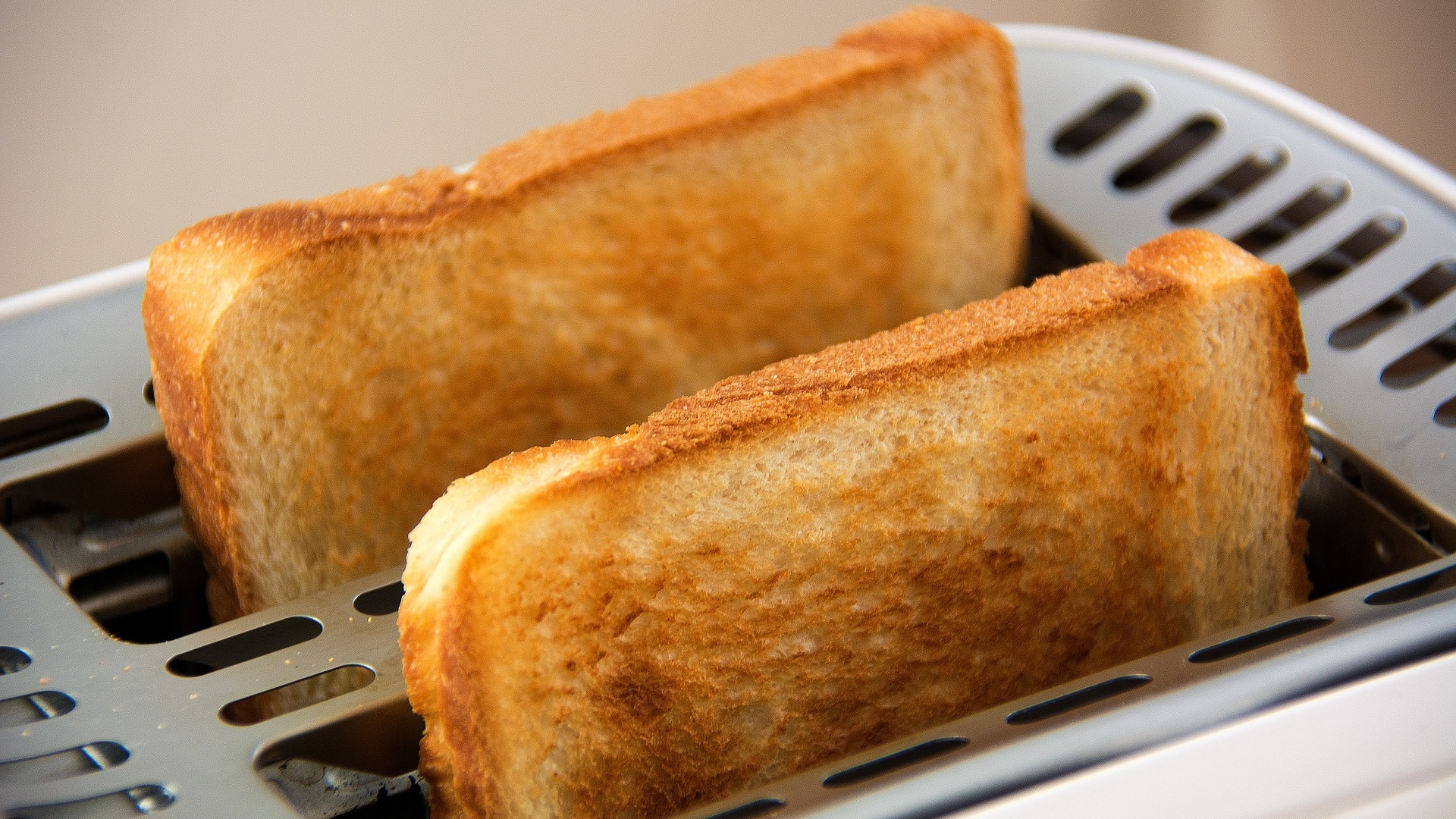 tostadas en una tostadora