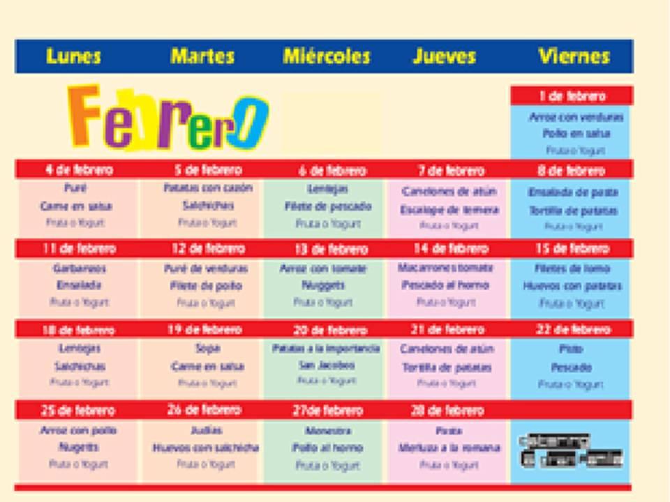 Asesoramiento Nutricional del Menú Escolar | Comunidad de Madrid