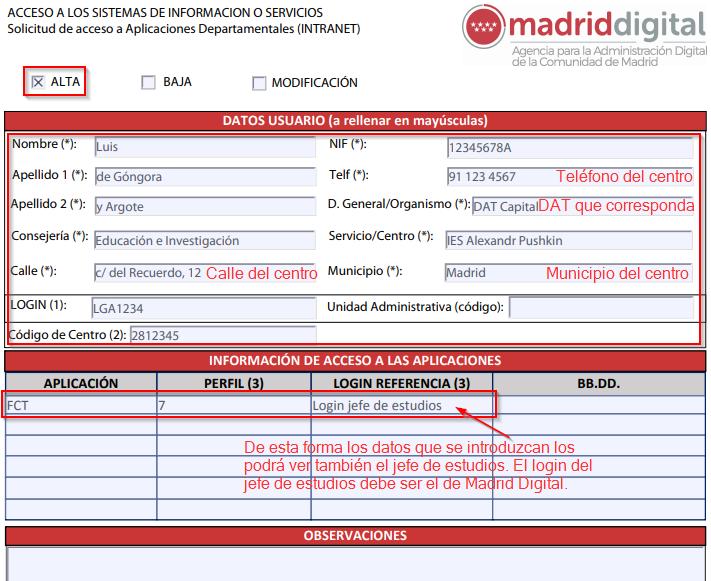 Gestión De Formación En Centros De Trabajo Fcts Comunidad De Madrid