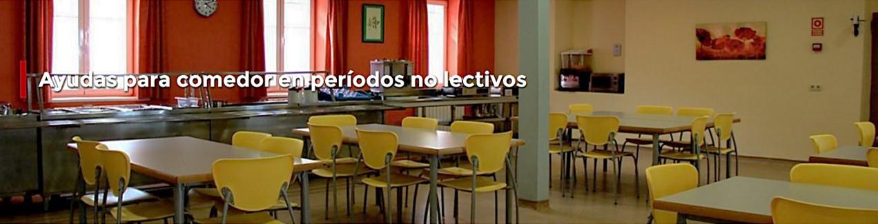Ayudas para comedor en períodos no lectivos | Comunidad de Madrid