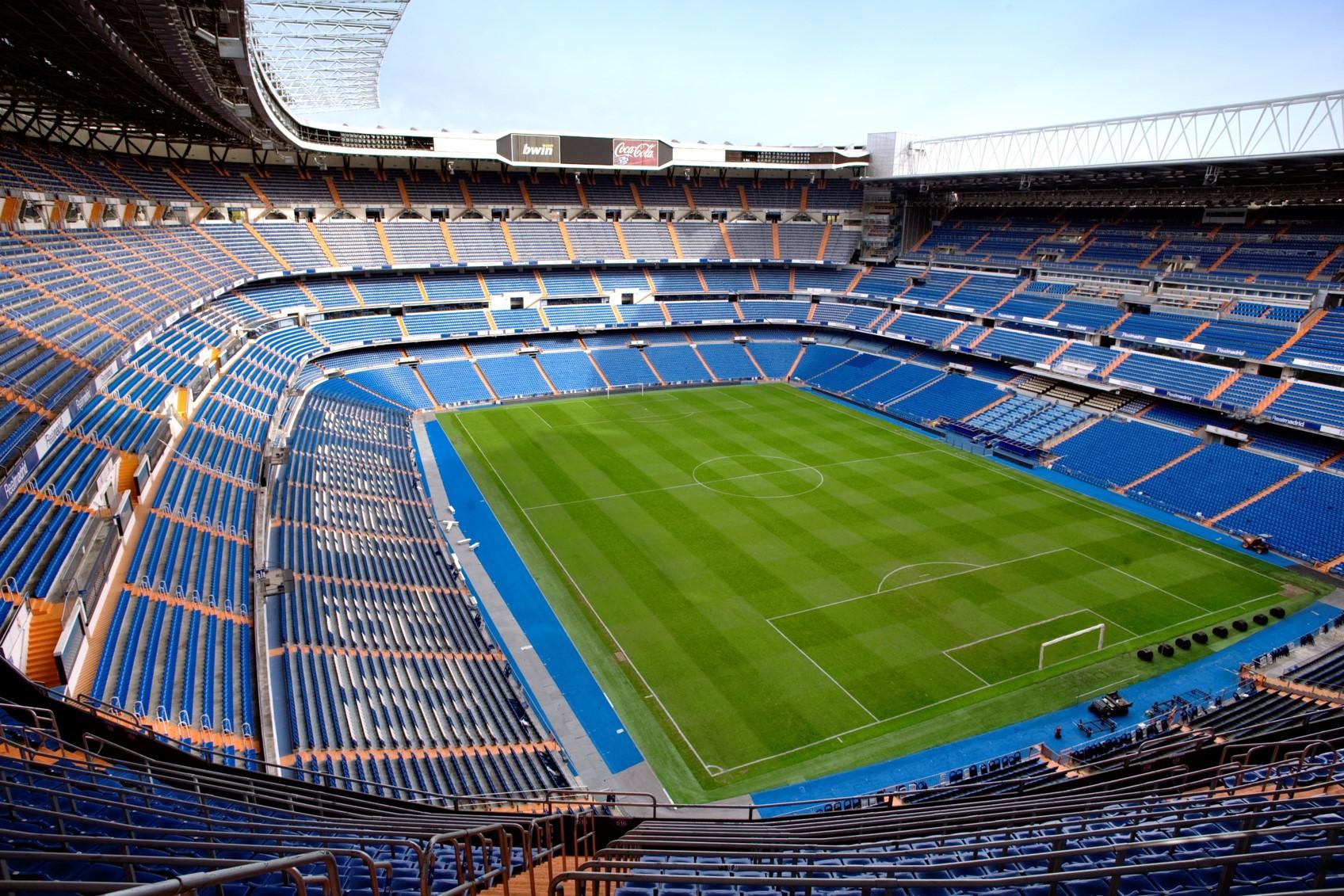Imagen del estadio Santiago Bernabéu