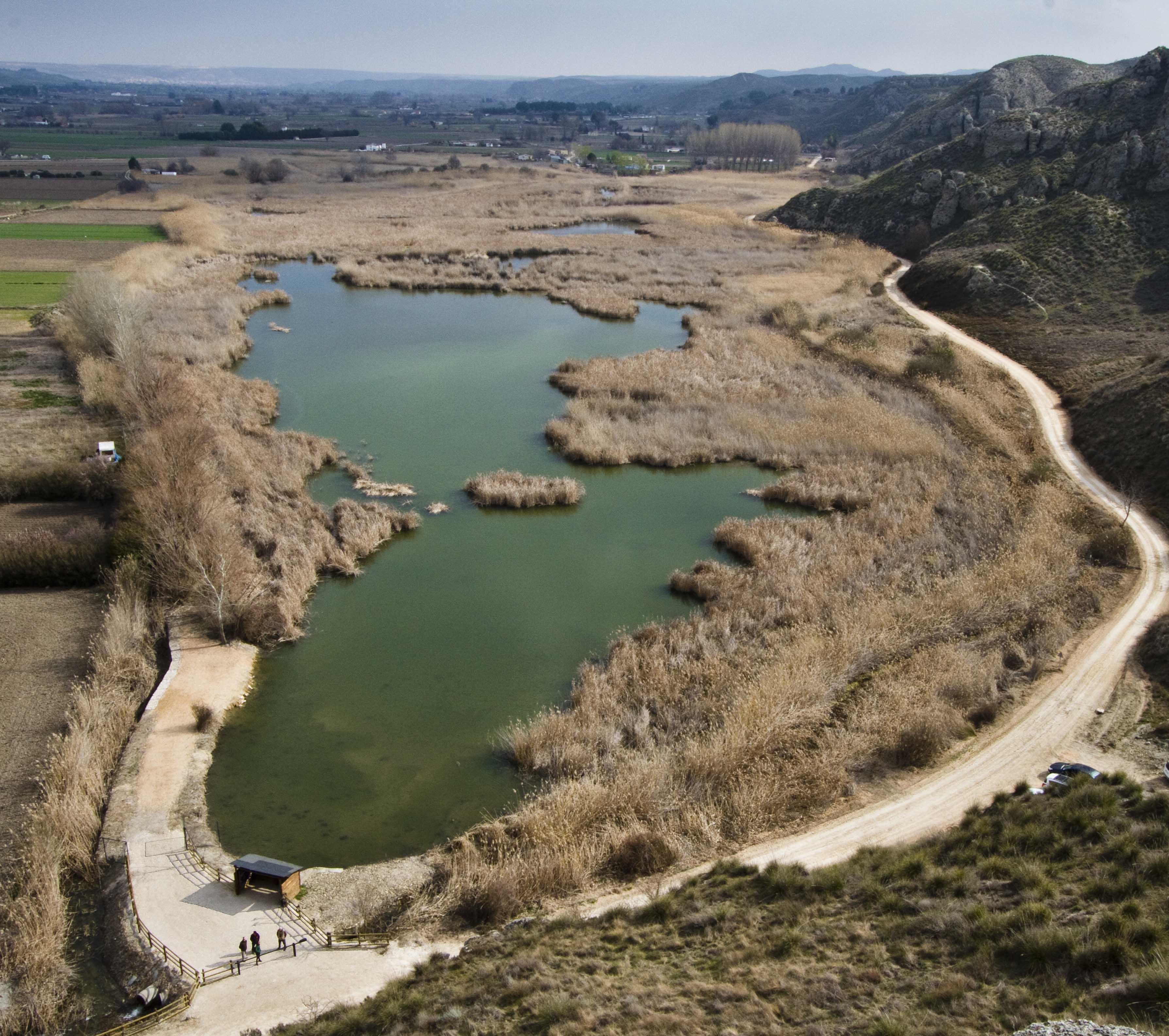 Espacios Naturales Protegidos. Laguna de San Juan. Vista aérea