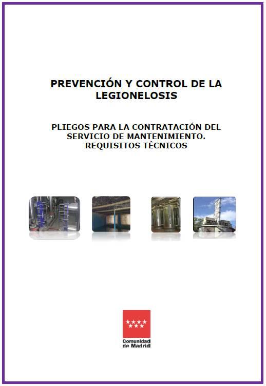 Imagen de la portada de la publicación Prevención y control de la legionelosis. Pliegos para la contratación del servicio de mantenimiento. Requisitos técnicos