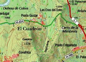 Mapa del Centro de educación ambiental El Cuadrón