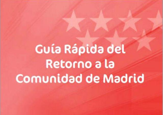 Guía para el retorno de la Comunidad de Madrid