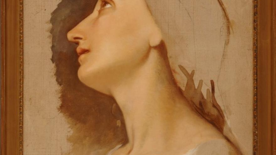 'Estudio de cabeza femenina, Roma' 1840 Federico de Madrazo Kuntz