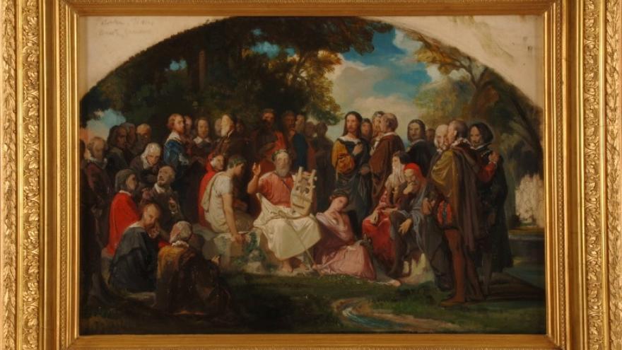 'El Parnaso de las Artes y las Letras' 1850 Federico de Madrazo