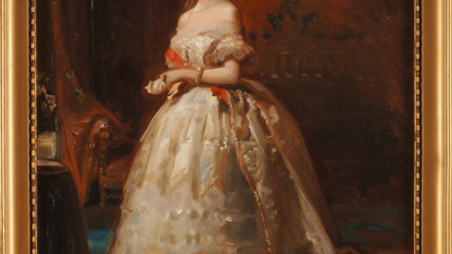 'Retrato de la duquesa de Alba (Boceto)' 1855 Federico de Madrazo Kuntz