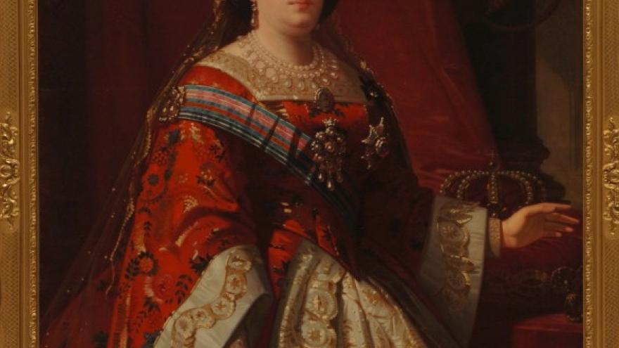 'Isabel II en traje de corte' 1865-1867 Luis de Madrazo Kuntz
