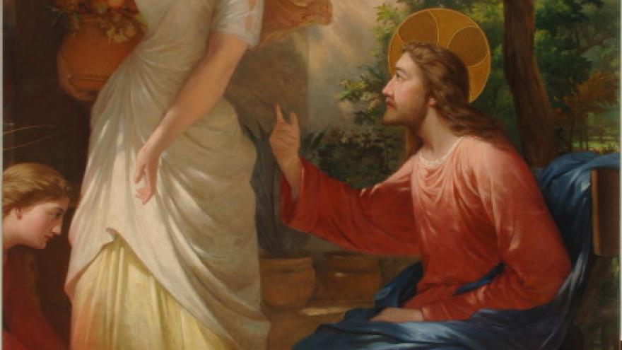 'Encuentro de Jesús con las santas mujeres' 1855-860 Luis de Madrazo
