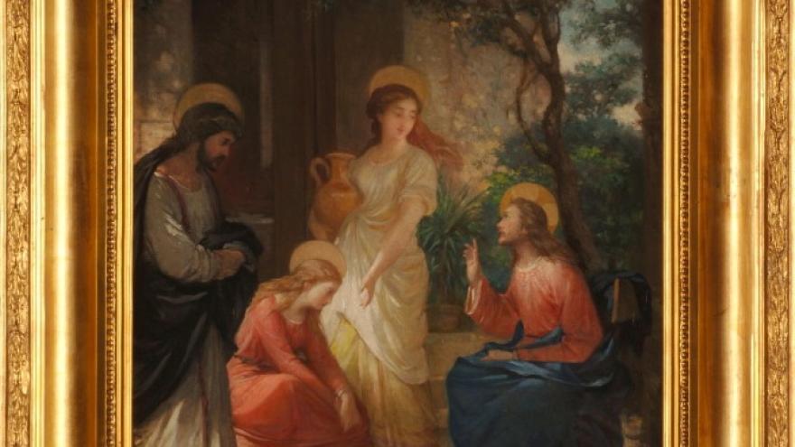 'Jesús en casa de Marta y María' 1855-1860 Luis de Madrazo