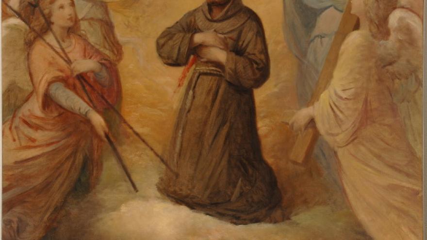 'Éxtasis de san Francisco de Asís' 1856-1858 Luis de Madrazo