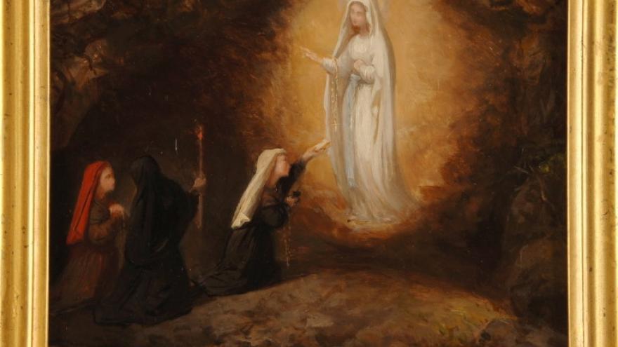 'Aparición de la Virgen de Lourdes' 1879 Luis de Madrazo
