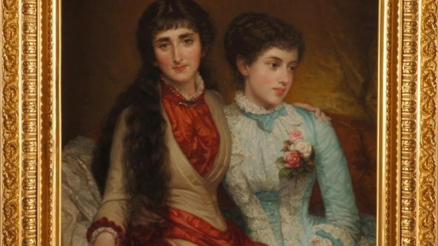 'María Luisa Fortuny de Madrazo y María Teresa de Madrazo y de Madrazo' 1883-1884 Luis de Madrazo
