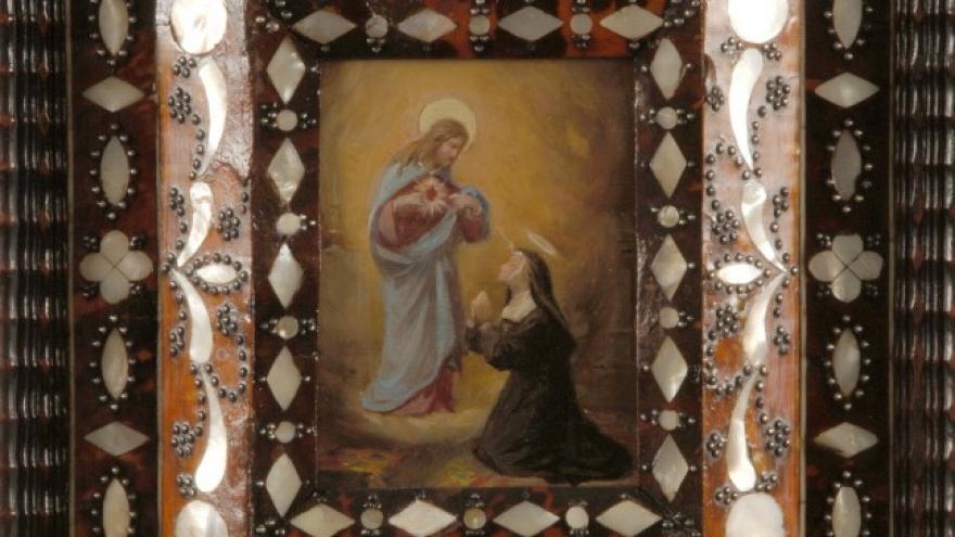 'Aparición del Sagrado Corazón a santa Margarita María de Alacoque' 1856-1858 Luis de Madrazo Kuntz