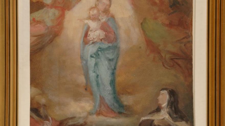 'La Virgen con el Niño, santa Teresa y un Obispo' 1856-1858 Luis de Madrazo Kuntz