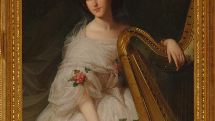 'Retrato femenino' 1862-1868 Luis de Madrazo