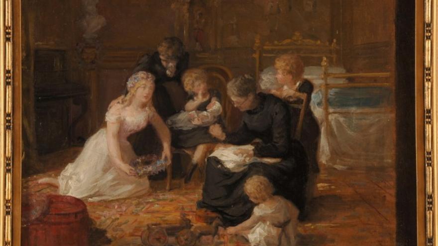 'Alegoría'1870-1875 Luis de Madrazo