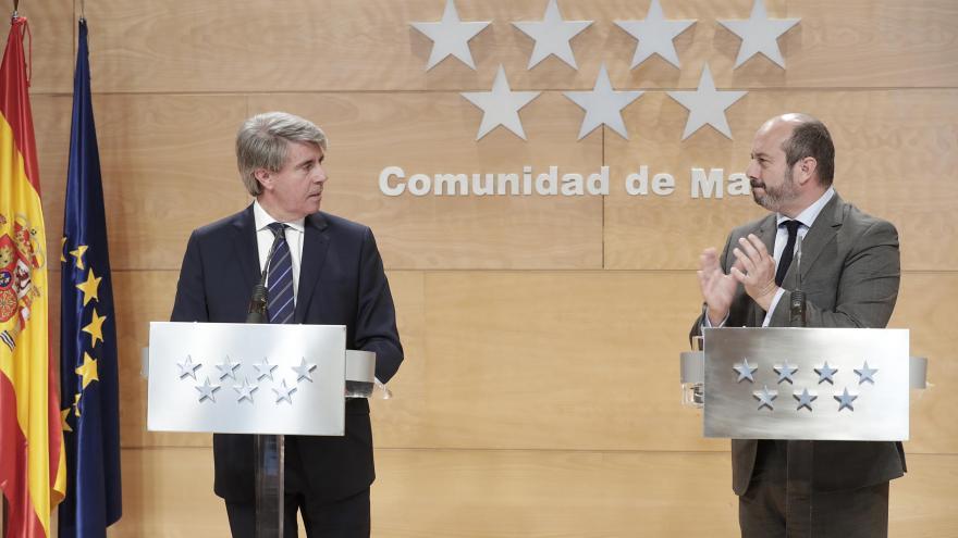 Ángel Garrido y Pedro Rollán en el Consejo de Gobierno