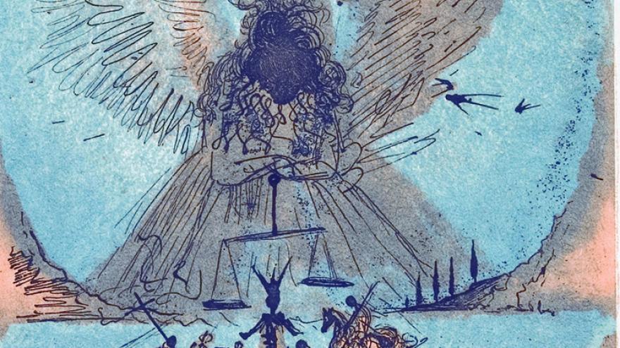 Ángel con alas desplegadas