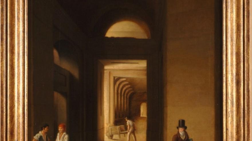 'Obras en el Museo del Prado' 1826-1828 José de Madrazo