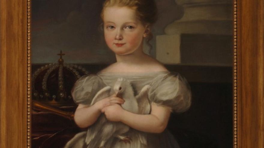 'La Reina Isabel II niña, abrazando una paloma' 1834 José de Madrazo Agudo