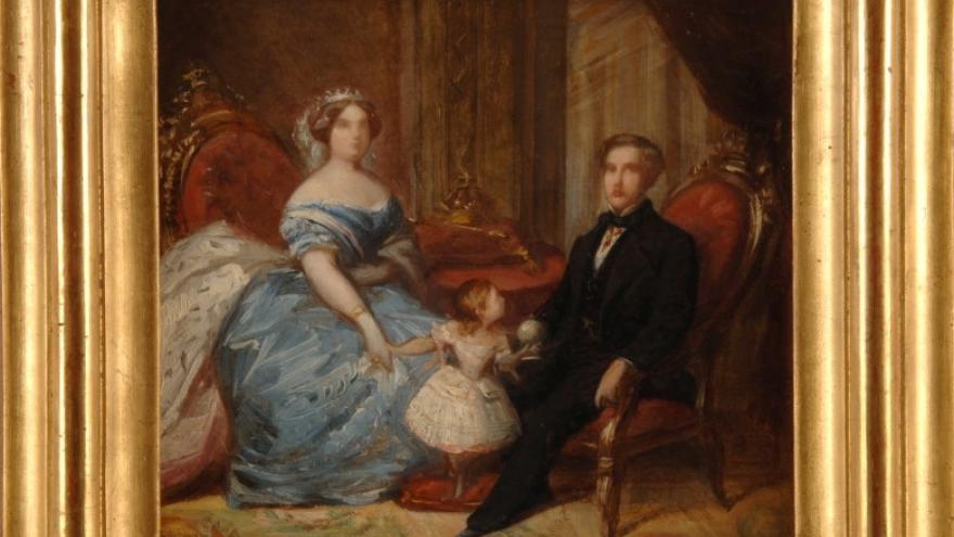'La Familia Real: Isabel II, Francisco de Asís y la infanta Isabel' 1852-1853 Federico de Madrazo Kuntz