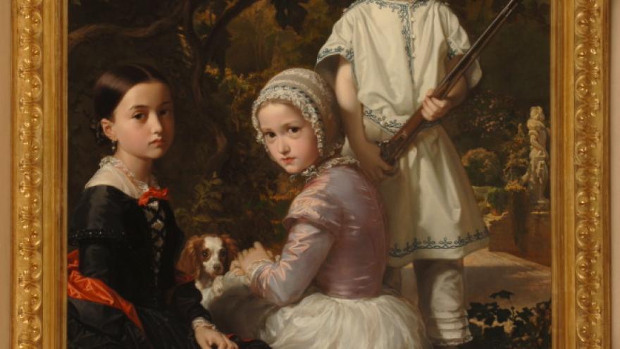 'Luisa, Rosa y Raimundo de Madrazo Garreta, hijos del pintor' 1845 Federico de Madrazo Kuntz