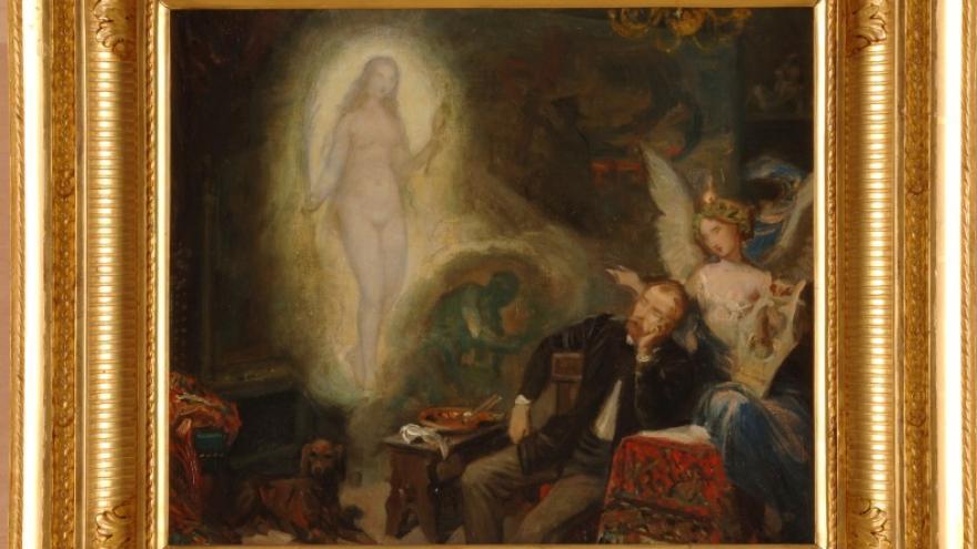 'La inspiración o el sueño del artista' 1866 Federico de Madrazo