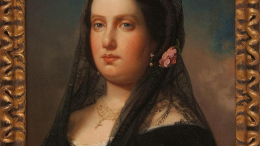 'La reina Isabel II' 1855 Federico de Madrazo Kuntz