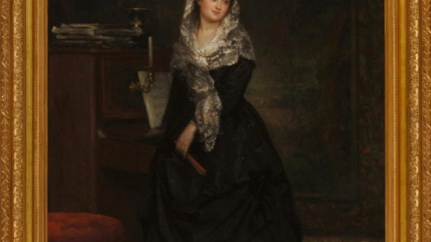 'Isabel de Madrazo Garreta ante el piano' 1867 Luis de Madrazo