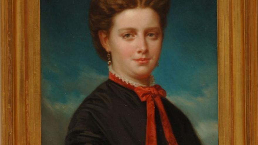 'Retrato femenino' 1862 Luis de Madrazo
