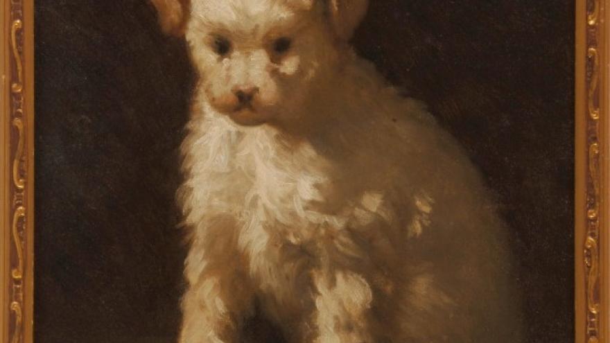 'El perrito Chopete' 1870 Luis de Madrazo