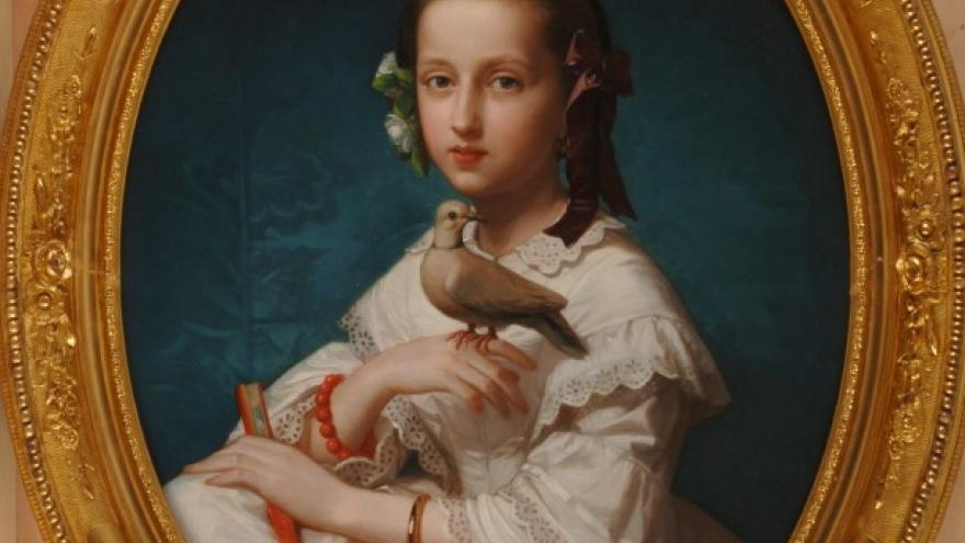 'María Teresa con una tórtola' 1880 Luis de Madrazo