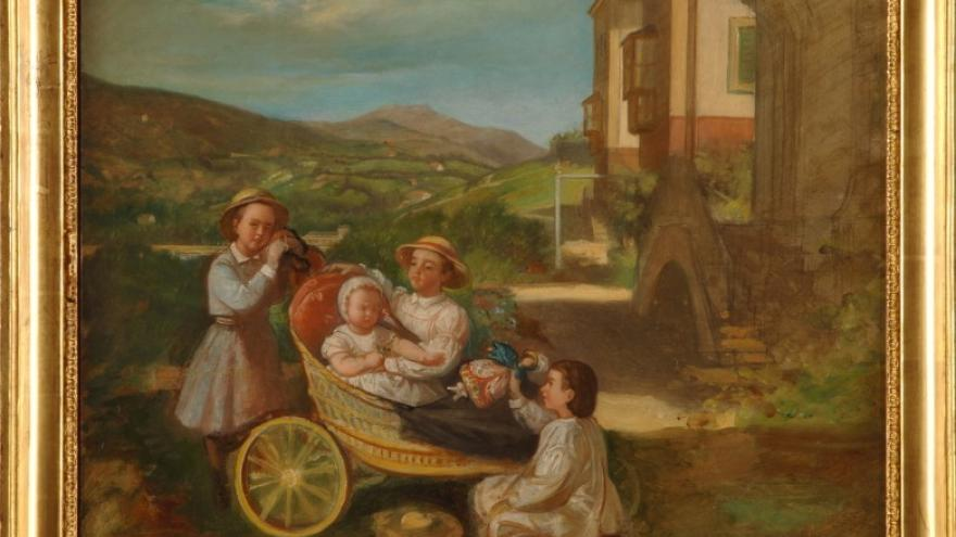 'Los niños Madrazo jugando' 1846 Luis de Madrazo