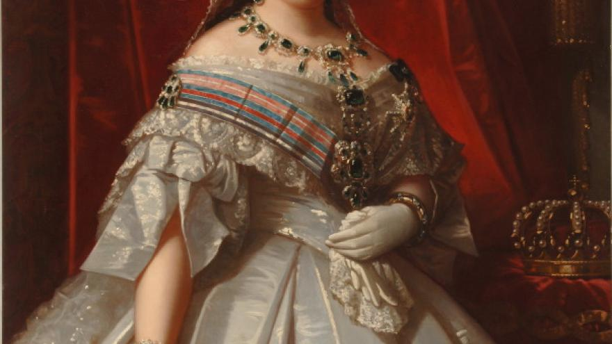 'La reina Isabel II' 1860 Luis de Madrazo